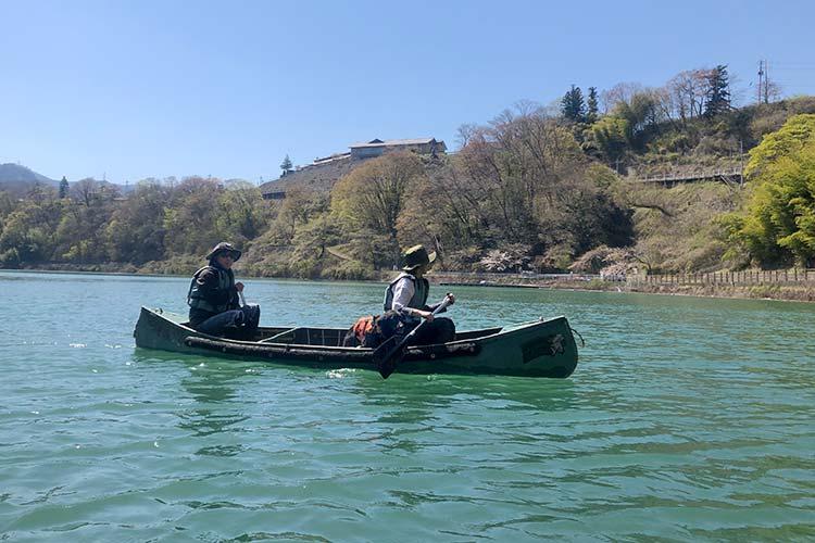 赤谷湖でカナディアンカヌー